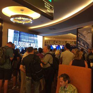 Hundreds of developers wait for the keynote to start