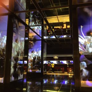 I've never been to Vegas, but the video screens - EVERYWHERE - just blew my mind. This is the hotel lobby.