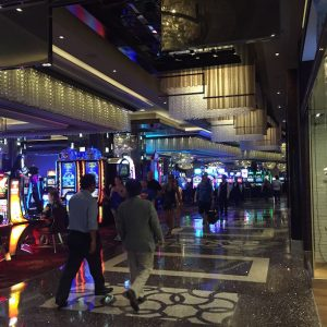 Another thing that was everywhere was slot machines. It's Vegas.