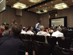 Conference attendees settle in before the special session on FileMaker Cloud.